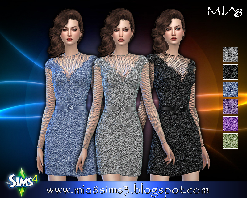 Women's lace dress with mesh (5 colors) by Mia8
