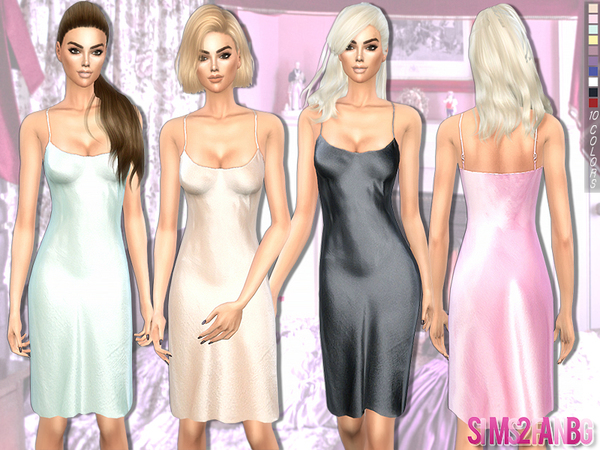 190 - Medium silk dress by sims2fanbg