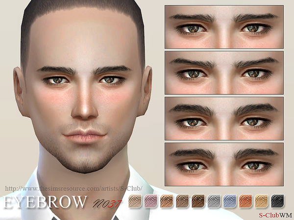 S-Club WM thesims4 Eyebrows 37M