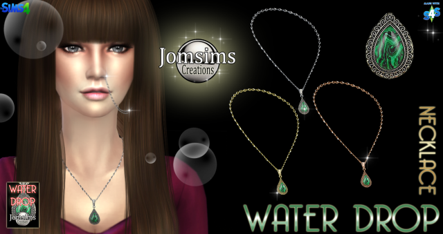 Water Drop necklace by JomSims