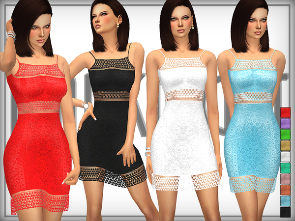 Lace Bodycon Dress by DarkNighTt