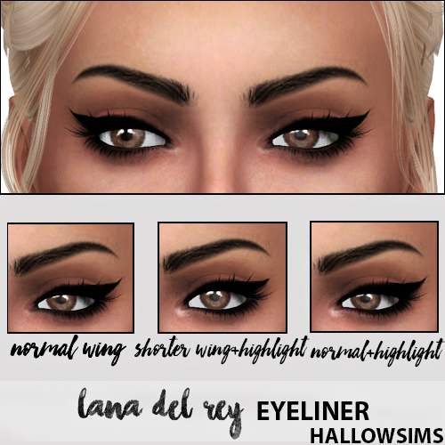 LANA DEL REY EYELINER by Hallow Sims