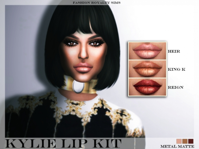 Kylie Lip Kit - Metal Matte by fashionroyaltysims