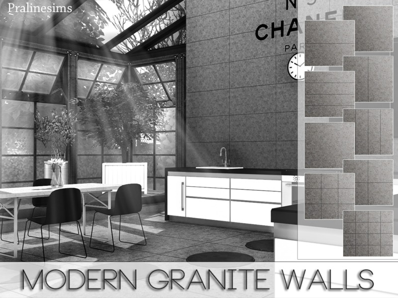 Modern Granite Walls by Pralinesims