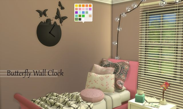 Butterfly Wall Clock by EnureSims