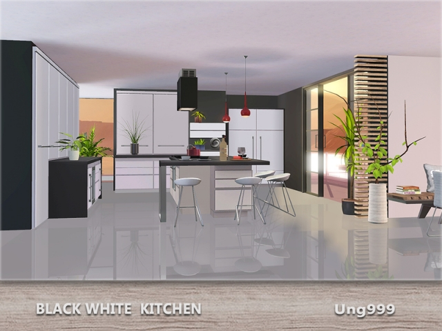 Black White Kitchen by ung999