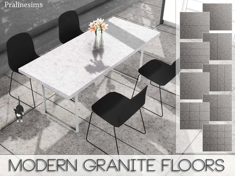 Modern Granite Floors by Pralinesims