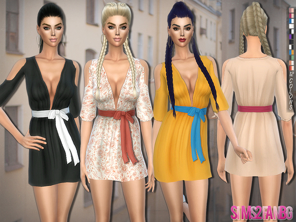 191 - Dress with bow by sims2fanbg