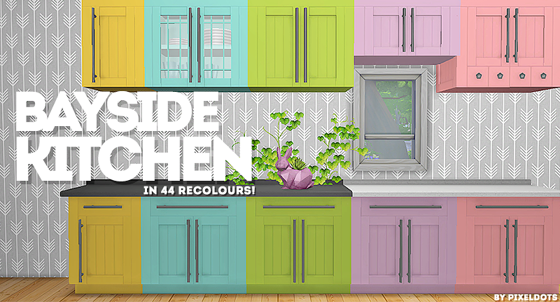 Bayside Kitchen Recolors by PixelDots