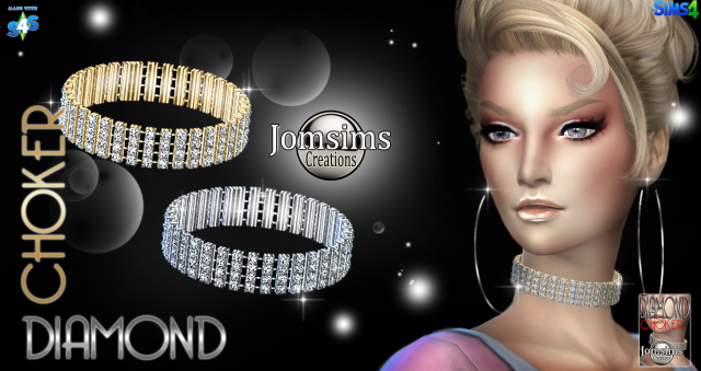 Diamond choker by JomSims