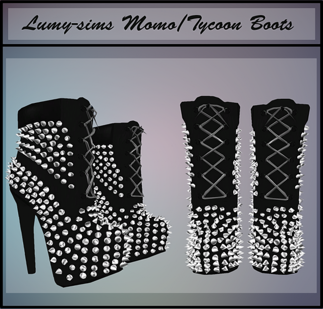 Tycoon Studs Boots by Lumy-sims
