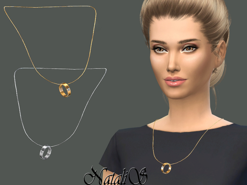 NataliS_Wedding ring on a chain