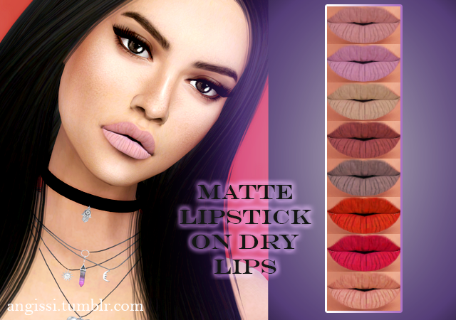 matte lipstick on dry lips by ANGISSI