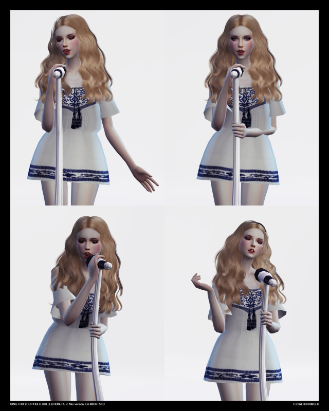 SING FOR YOU Poses collection, pt.2: MIC sets by Flower Chamber