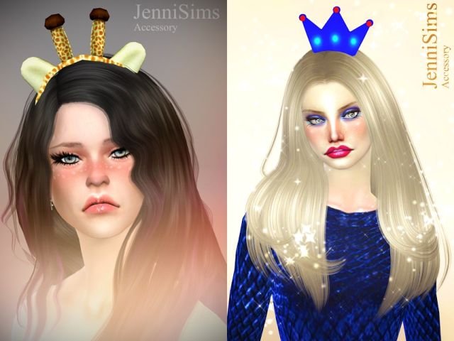 Accessory Giraffe HeadBand and Crown Male_Female by JenniSims