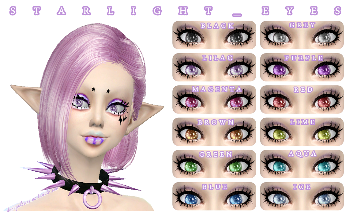 Starlight _ Eyes by DecayClownSims