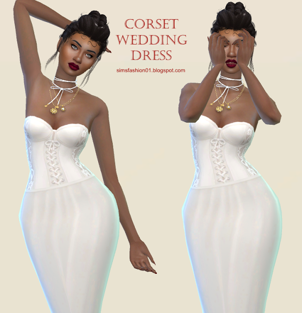 Corset Wedding Dress by SimsFashion01