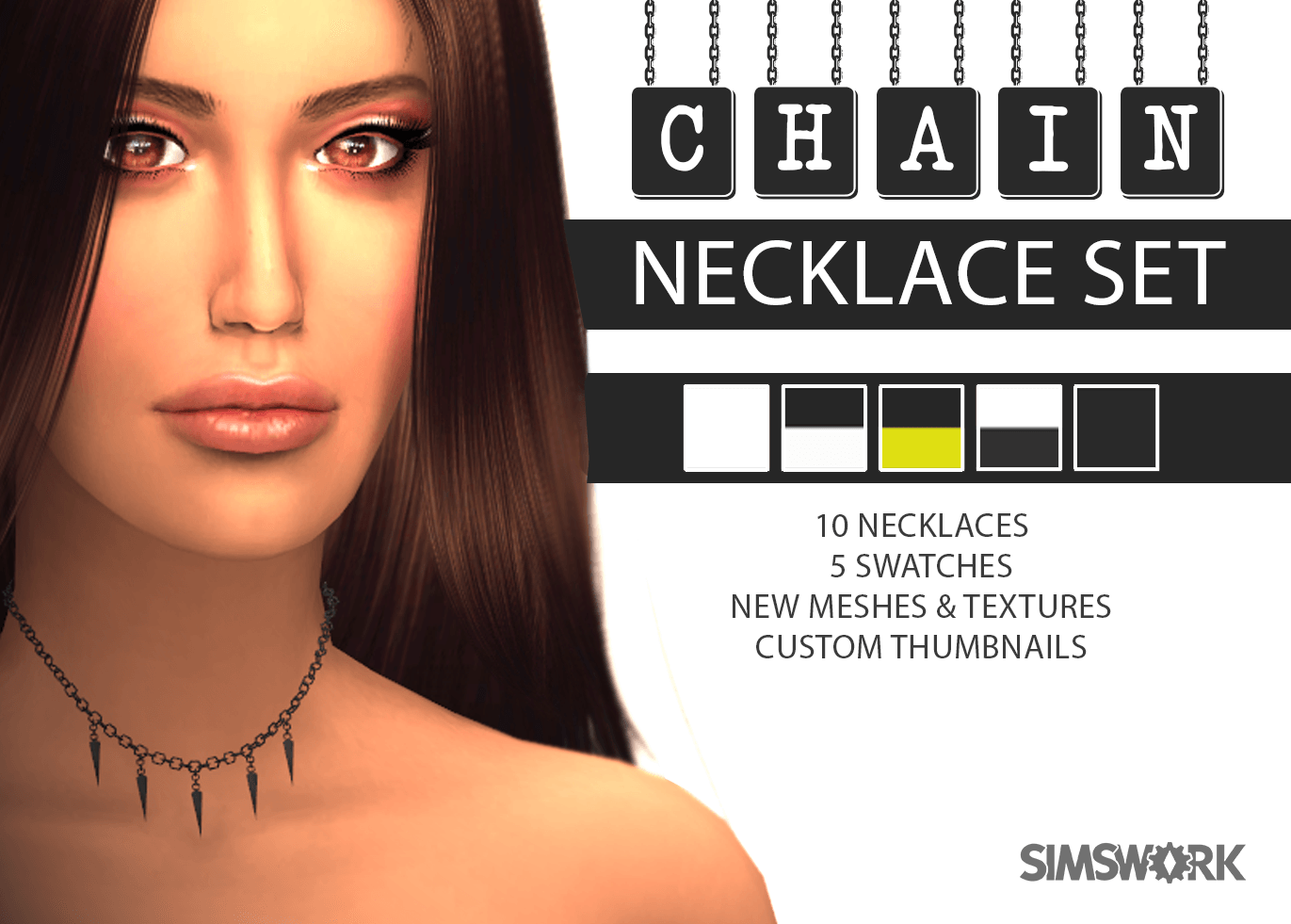 Chain Necklaces by SimsWork