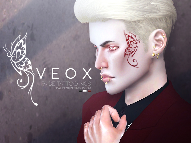 VEOX Face Tattoo N06 by Pralinesims