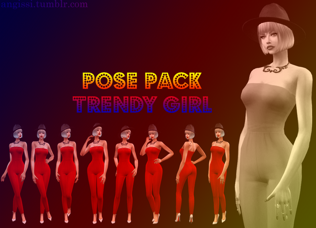 Pose Pack* Trendy girl by ANGISSI