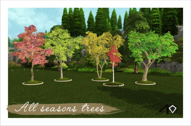 All Seasons Trees by Daer0n