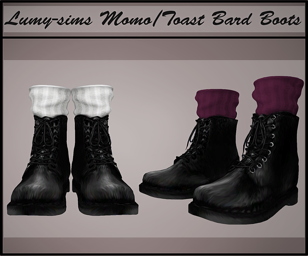 TS3 Toast Bard Boots Conversion by LumySims