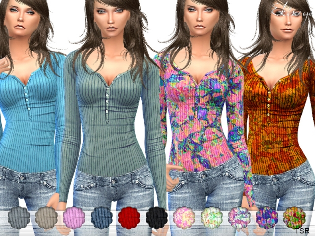 Ribbed Thermal Top by Ekinege