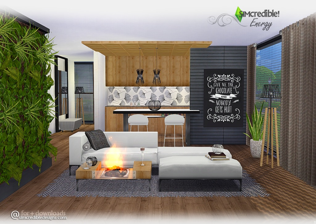 Energy Living Room Set by Simcredible Designs