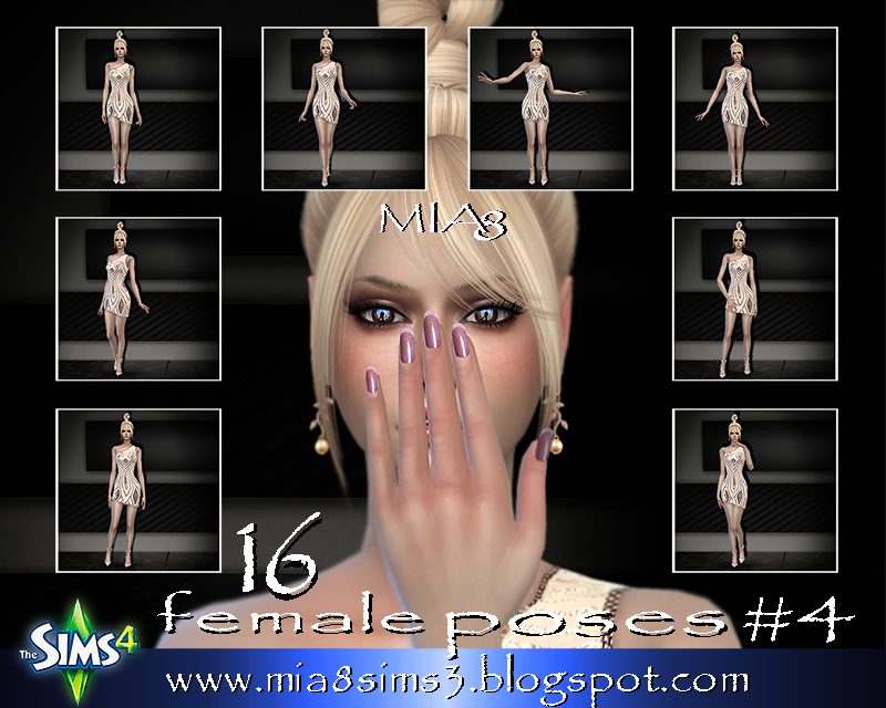 TS4 16 female poses#4 by Mia8
