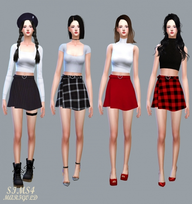 Heart Belt Mini Skirt by marigold