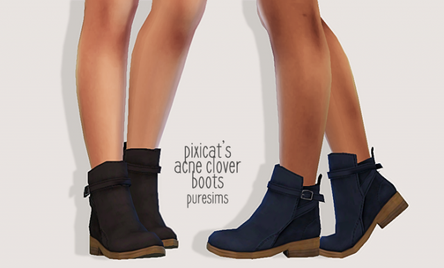 pixicats acne clover boots by Puresims