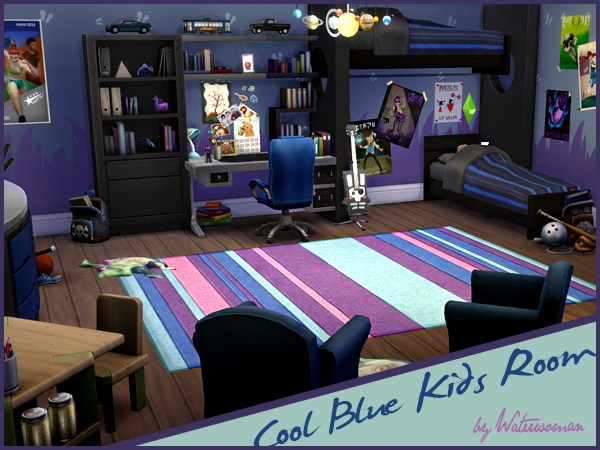 Cool Blue Kids Room by Waterwoman
