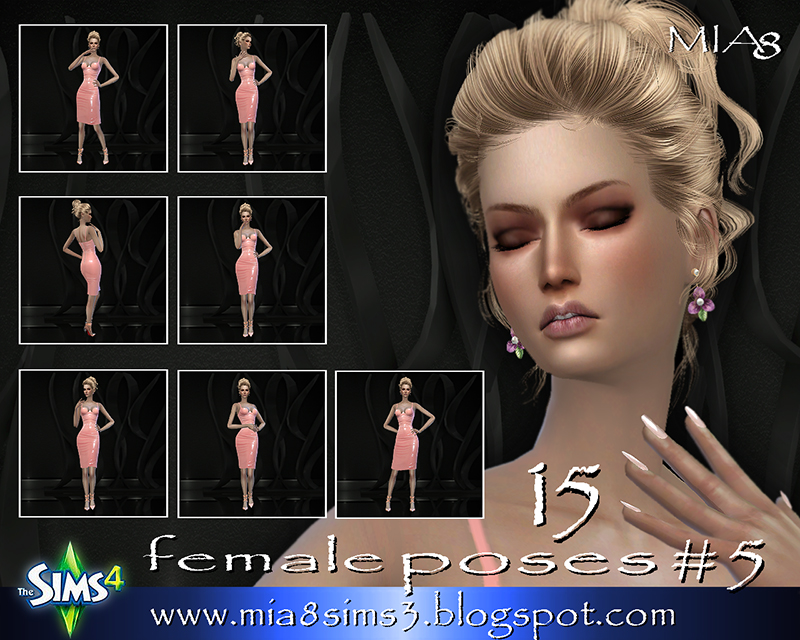 TS4 15 female poses#5 by Mia8