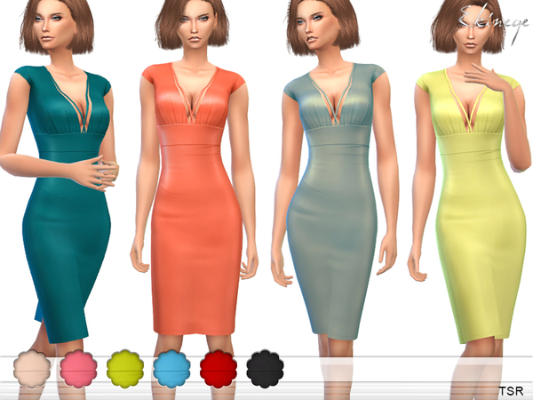 Cap Sleeve Harness Dress by ekinege