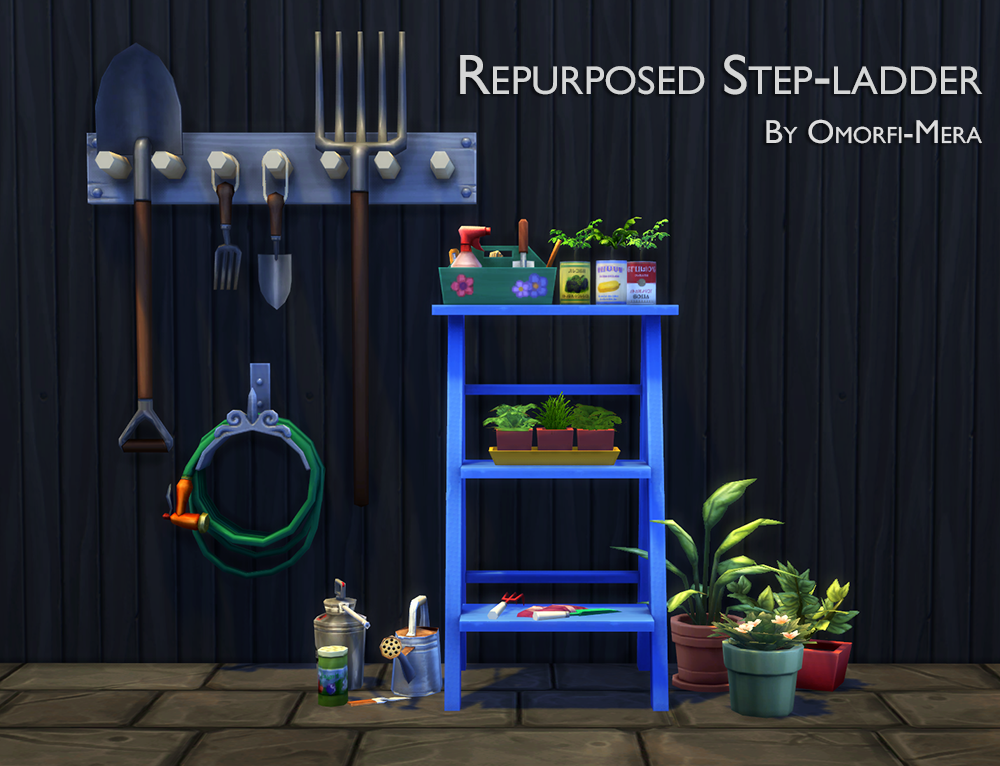 Repurposed Step Ladder by OmorfiMera