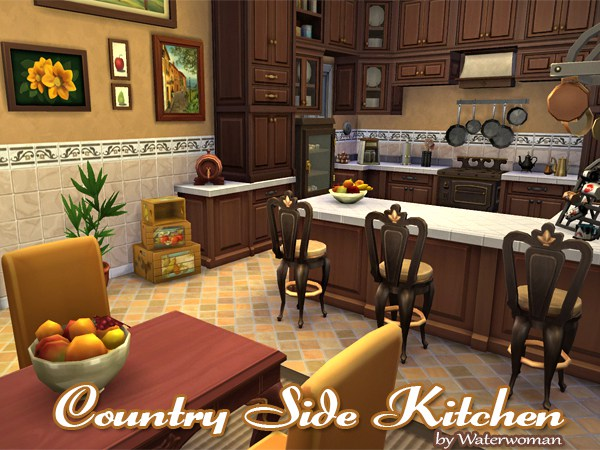 Country Side Kitchen (Sims 4) by Waterwoman