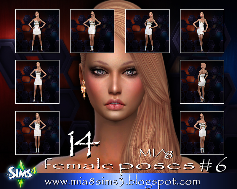 TS4 14 female poses#6 by Mia8