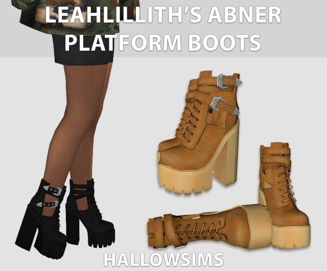 LeahLilliths Abner Platform Boots by Hallow Sims