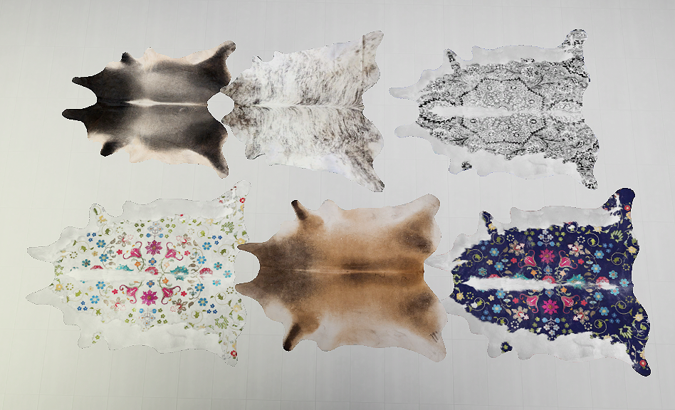 Cowhide Rugs Galore by Daer0n