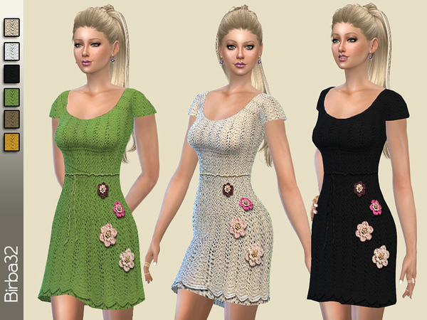 Crochet flowes dress by Birba32