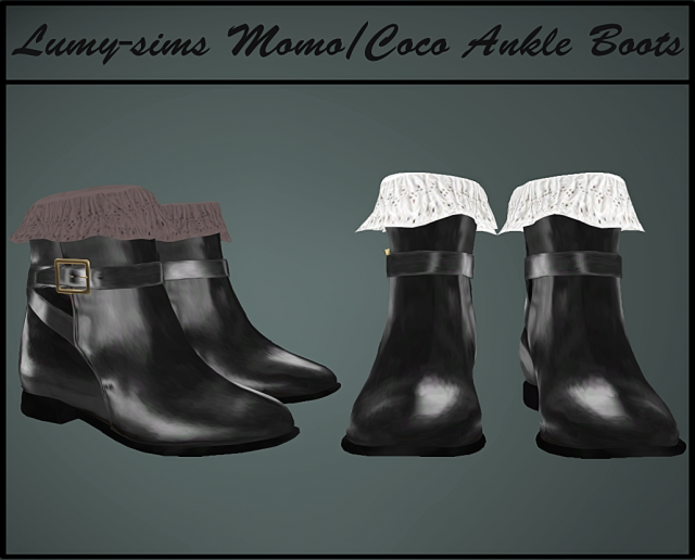 Coco Ankle Boots by Lumy-sims