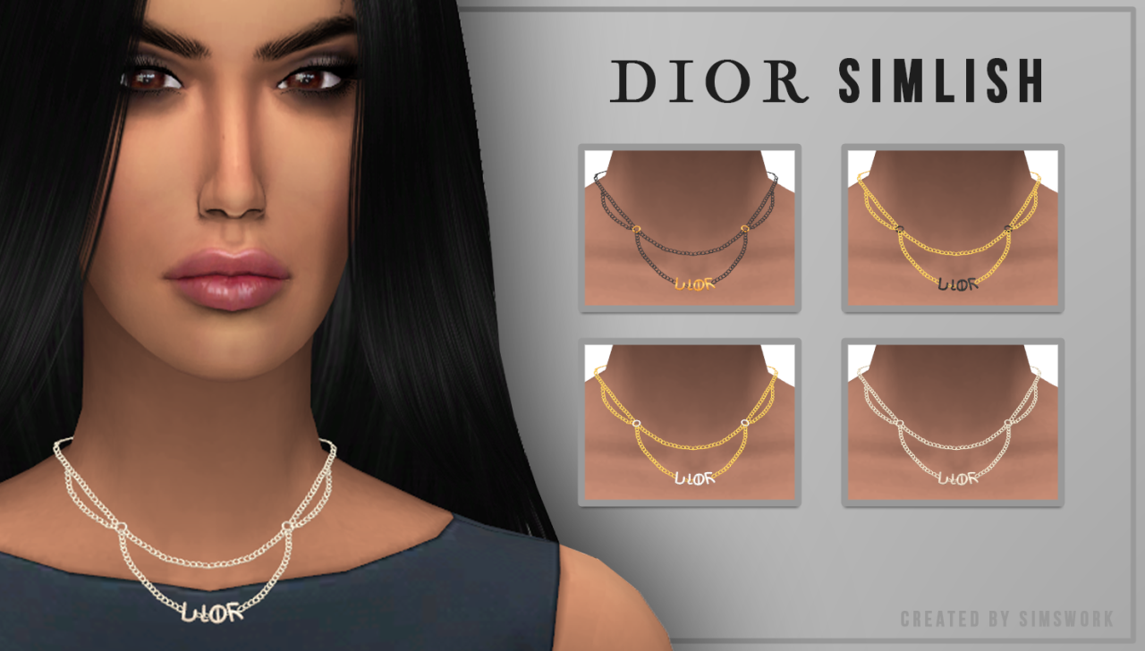 Dior Necklace by SimsWork