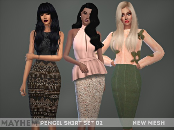 Pencil Skirt Set 02 by NataliMayhem