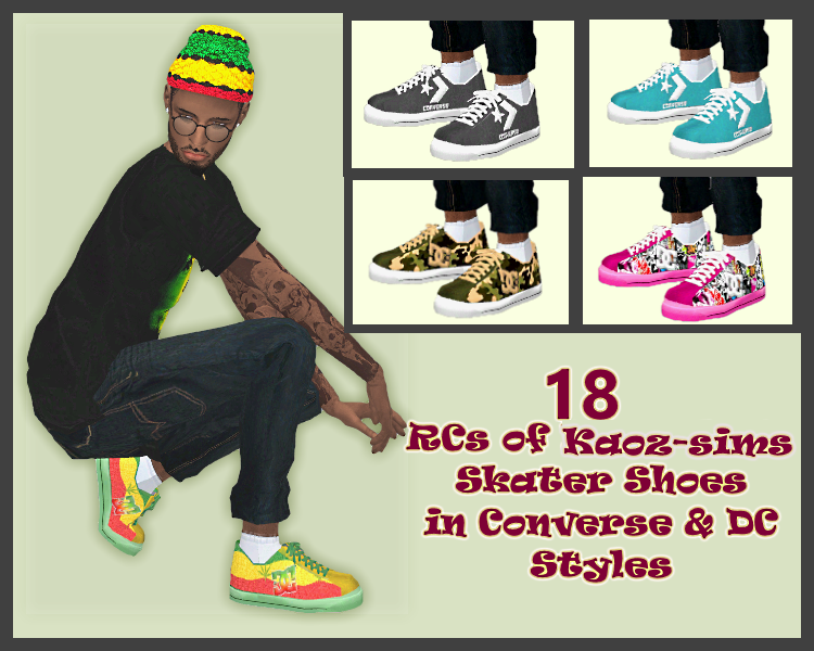 Skater Shoes Recolors by BLewis50