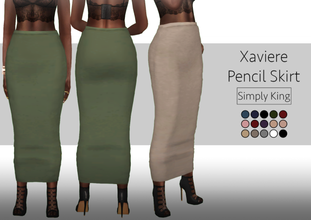 Xaviere Pencil Skirt by Simply King