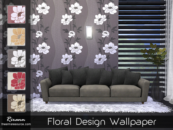Floral Design Wallpaper by Rirann