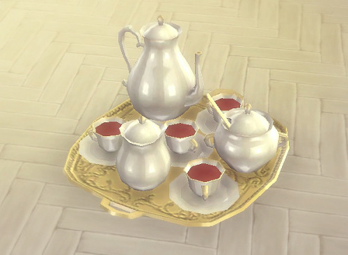 TS3 Old Miller Tea Time Set Conversion by BlackCatPhoenix