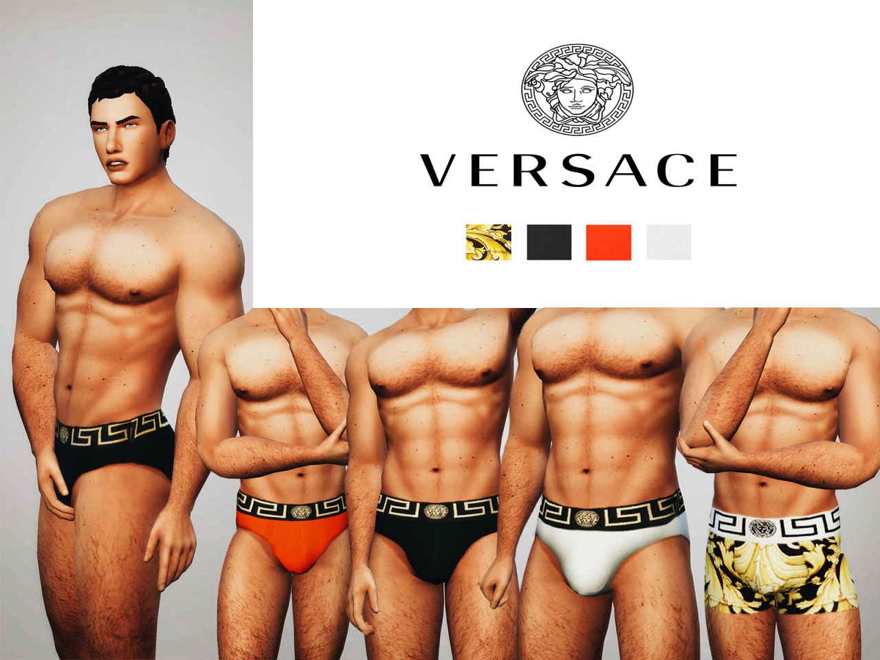 Versace Underwear Collection by OwlPlumbob