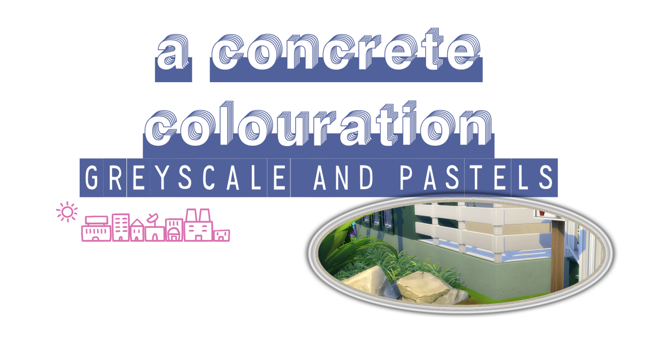 A Concrete Colouration: Greyscale and Pastels by PictureAmoebae