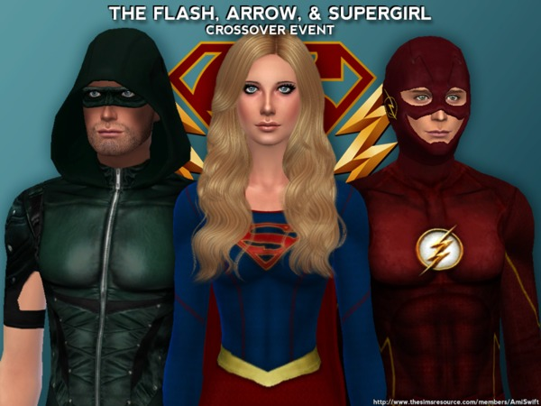 The Flash, Arrow, & Supergirl Set by AmiSwift